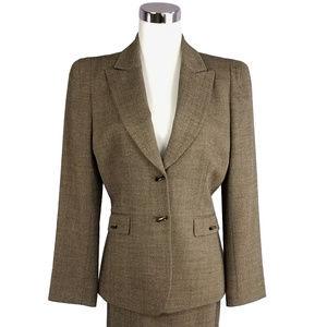 ANTONIO MELANI 8 Brown Suit Blazer Jacket